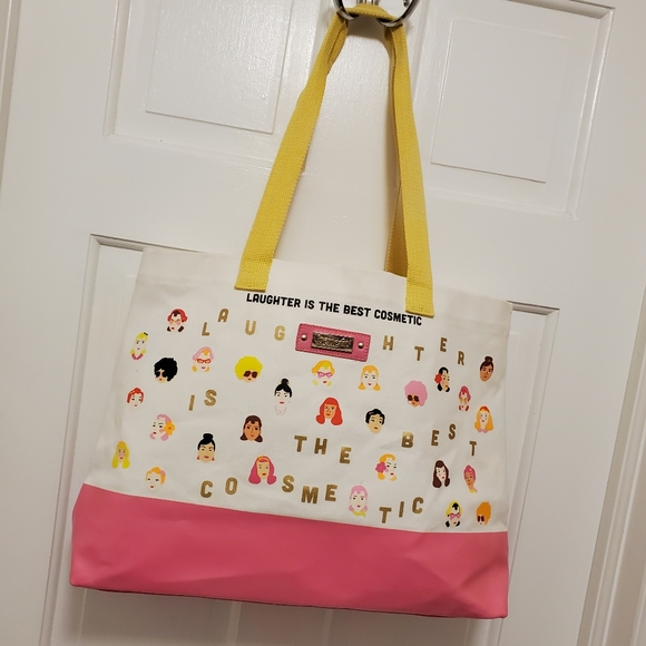 """Benefit """"Laughter is Best Cosmetic"""" Large Tote"""